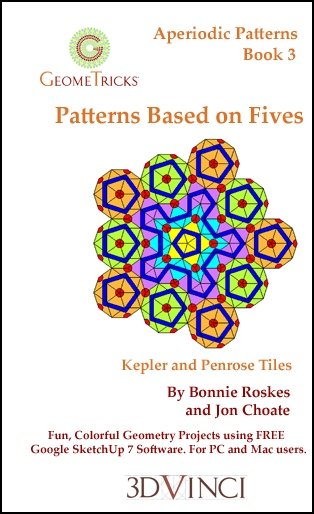 Patterns Based on Fives, GeomeTricks Aperiodic Patterns Book 3 (Printed)