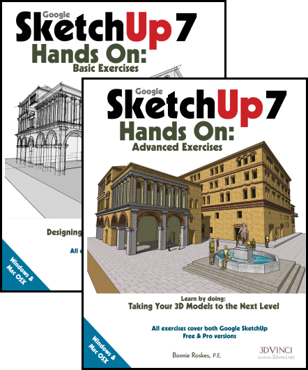 Google SketchUp 7 Hands-On: Basic and Advanced Exercises (color)