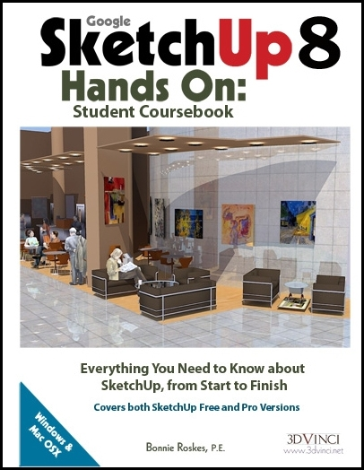 Google SketchUp 8 Hands-On: Student Coursebook (e-book)