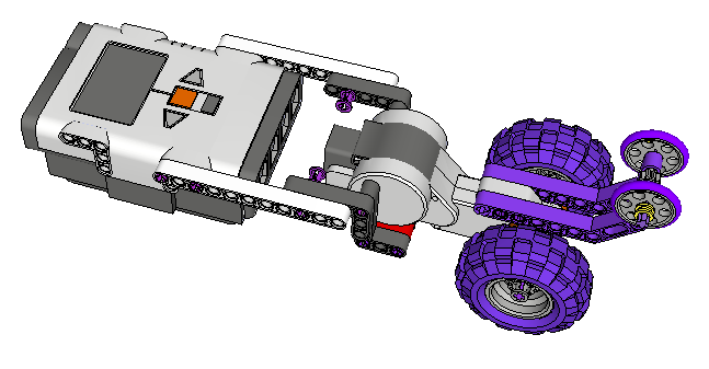 Assembling a Lego Robot in Google SketchUp