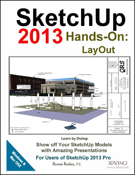 SketchUp 2013 Hands-On: LayOut (Printed)