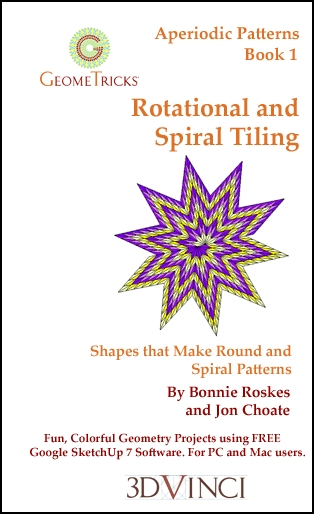 Rotational and Spiral Tiling, GeomeTricks Aperiodic Patterns Book 1 (Printed)