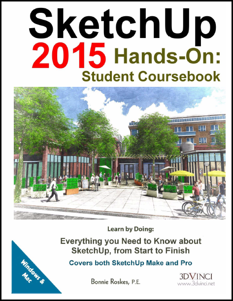 SketchUp 2015 Hands-On: Student Coursebook (PDF)