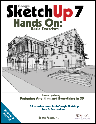 Google SketchUp 7 Hands-On: Basic Exercises (e-book)