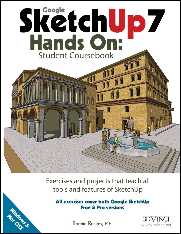 Google SketchUp 7 Hands-On: Student Coursebook (e-book)