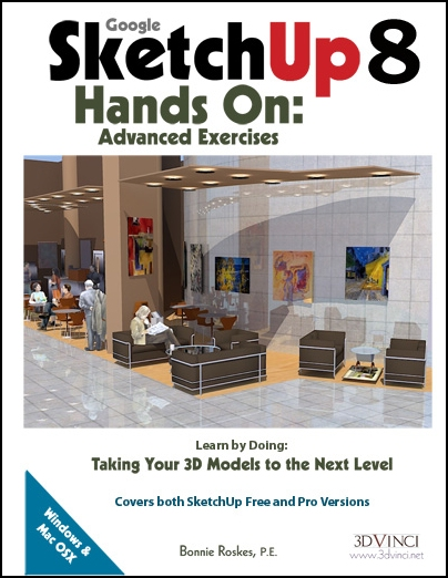 Google SketchUp 8 Hands-On: Advanced Exercises (e-book)