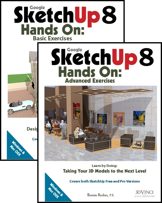 Google SketchUp 8 Hands-On: Basic and Advanced Exercises (e-book)